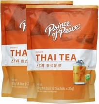 2 Pack Prince Of Peace Instant Thai Tea 14.8OZ 12 Sachets Each - $57.42