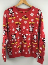 Disney Mickey Mouse Sweatshirt Red M 7-9 Crewneck 2020 Scarf Winter Xmas... - $21.78