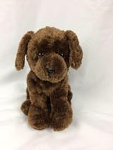 "TY Beanie SOFT DARK BROWN PUPPY DOG 9"" Plush STUFFED ANIMAL Toy 2012 - $7.92"