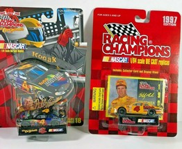 2 NASCAR Racing Champions Cars #4 Kodak Advantix Bobby Hamilton & Stanle... - $20.78
