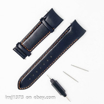 Leather strap watchband Tissot T035407 T035410 T035428 Orange stitch w/o... - $34.65