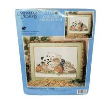 Vintage Candamar Designs Counted Cross Stich endangered species 50766 Se... - $18.50