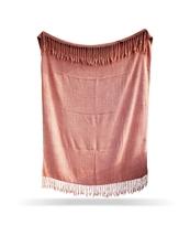 Blush Color Sofa Throw, Boho Chic Blanket, Cotton Handmade Printed Throw... - €53,47 EUR