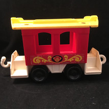 VINTAGE FISHER PRICE LITTLE PEOPLE CIRCUS TRAIN #991 MONKEY CAR CABOOSE - $7.73