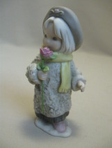 Porcelain Bisque Figurine Girl with Rose Kim Anderson/Verkerke Enesco 1996 - $7.95
