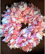 "Breast Cance Awareness In Pink With Special Ribbons - 16"" Ribbon Wreath ... - $50.00"