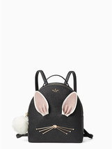 NWT Kate Spade Rabbit Sammi Hop To It Backpack Black Leather Bag Handbag... - £119.90 GBP