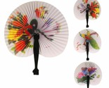 Chinese Paper Folding Hand Fan - One Fan with Random Color and Design