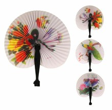 Chinese Paper Folding Hand Fan - One Fan with Random Color and Design image 1
