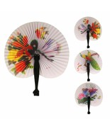 Chinese Paper Folding Hand Fan - One Fan with Random Color and Design - $5.89
