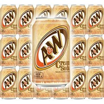 A&W Cream Soda, Made With Aged Vanilla, 12 Fl Oz Can, Pack of 18, Total ... - $36.86