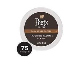 Peet's Coffee Major Dickason's Blend Dark Roast Coffee K-Cup Coffee Pods 75 Coun - $46.52