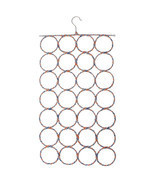 2 Piece Multi Scarf Hanger Ties Organize Circle Storage Holder Rack 28 Hole - $33.50