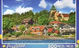 NIB Puzzlebug 500 pc. Puzzle New/Sealed Oslo Norway City Architecture in... - $9.89