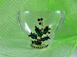 Teleflora Fine Bohemian Lead Crystal Czech Clear Christmas Vase Applied ... - $24.67