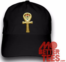 Golden Ankh Dad Hat Symbol of Life choose from black or white, egypt, pr... - $14.99