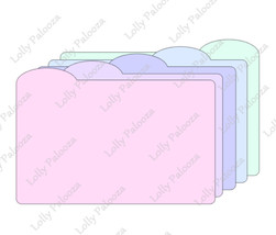 Round Tab Dividers Digital SVG CUT File: Instant Download. No Physical Product