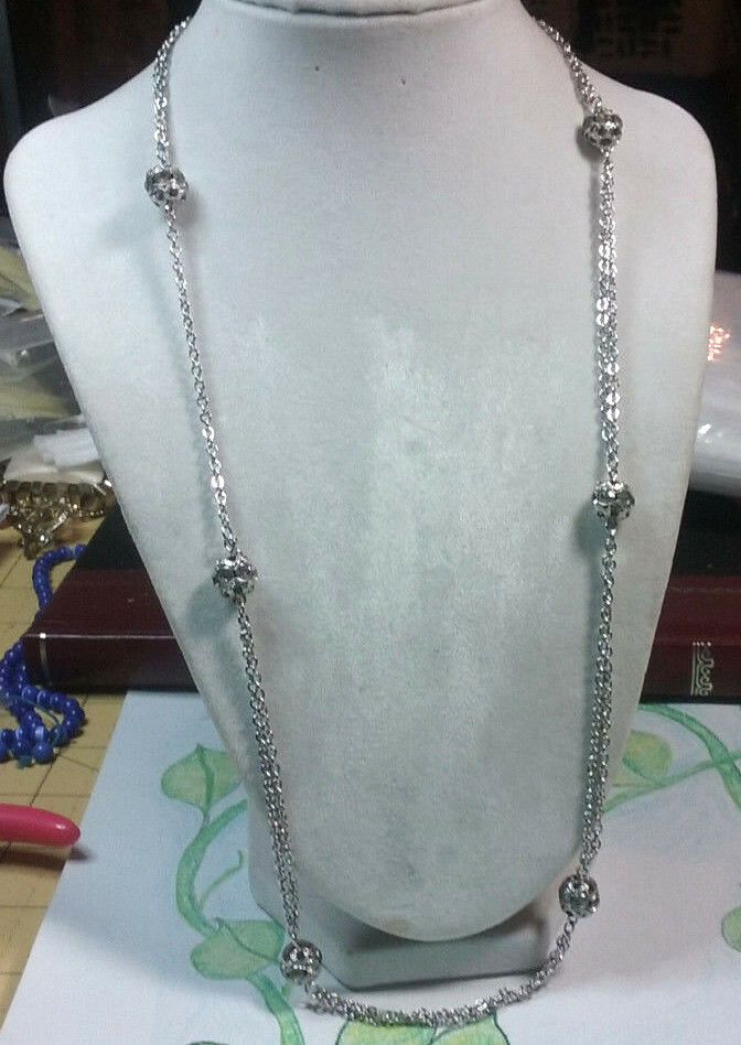 "Primary image for Vintage Jewelry: 24"" ""Sarah Cov"" Silver Tone Necklace 17011815"