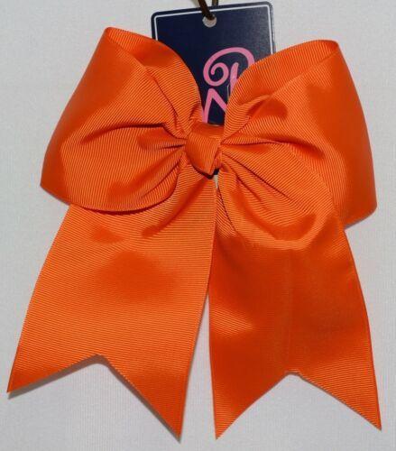 WB M5000ORG Orange Colored Grosgrain Ribbon Hair Bow Alligator Clip