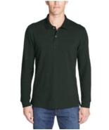 Eddie Bauer Classic Field Pro Long-Sleeve Polo Shirt Cotton, Avocado, Si... - $29.99