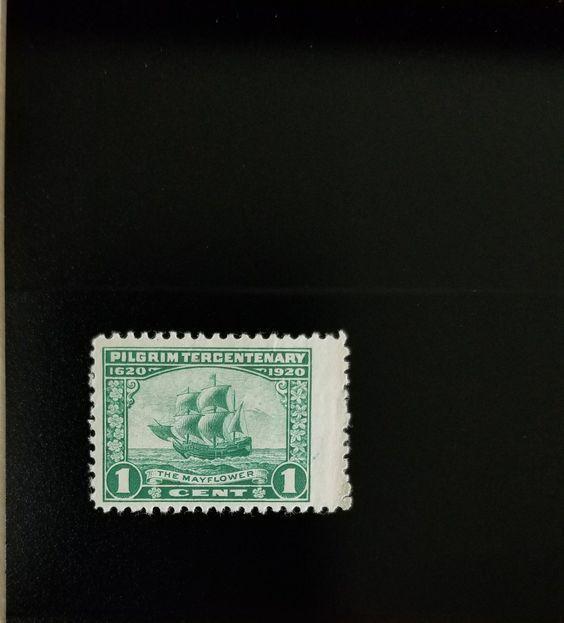 """1920 1c The """"Mayflower"""", Green Scott 548 Mint F/VF LH"""
