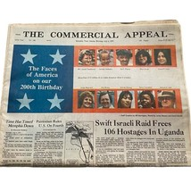 July 4, 1976 The Commercial Appeal Memphis Newspaper Complete - $14.40