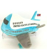 Presidential Seal Air Force One Plane Plush Toy Take Off Sound Flag Stuf... - $29.69