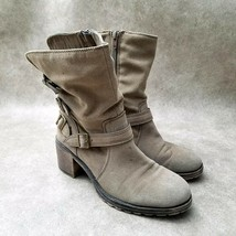 "American Eagle Womens Avance Sz 8.5 M Brown Mid Calf Boots 2.5"" Block Heels - $29.99"