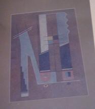 Joe Hilaro Herrera BLUE BIRD Orig Art Abstract Watercolor '52 GALLUP Pri... - $7,495.00