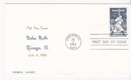 BABE RUTH #2046 CHICAGO, IL JULY 6, 1983 HUDECK CACHET D-626 #359/550 - ₹217.21 INR