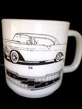 Vintage Coffee Mug 1956 Chevrolet Shoebox Chevy Bel Aire Coupe Man Cave ... - $16.82