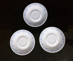 Very Vintage Set of 3 Corelle by Corning Morning Blue Made in USA EUC - $10.88