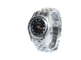 Auth GUCCI 5500L Date Black Dial Quartz Ladies Watch GW1626 - $269.00