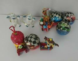 Lot of 9  Taz ScoobyDoo Cars Cartoons Christmas Holiday Ornaments - $17.75