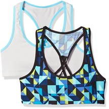 Fruit of the Loom Big Girls' Micro Stretch Sports Bra (Pack Of 2), Blue Kaleidos - $30.71