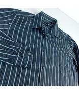 Boss Hugo Boss Black Gray Stripes Dress Shirt Sz L - $29.99