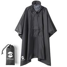 Hooded Rain Poncho Waterproof Raincoat Jacket for Men Women Adults A-gre... - $27.05