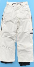 Sessions Base Series SML Ski Snow Pants Womens Small Cream Zip Snowboarding - $19.79