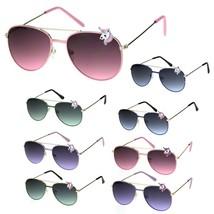 Child Size Girly Unicorn Jewel Badge Trim Pilots Sunglasses - $8.95