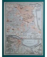 ALGERIA Tangier City Town Plan - 1911 MAP - $30.60
