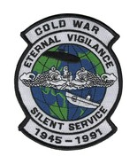 """NAVY COLD WAR SILENT SERVICE SUBMARINE EMBROIDERED 5""""  PATCH - $18.04"""