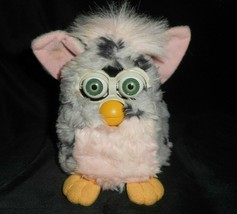 VINTAGE 1999 ORIGINAL INTERACTIVE ELECTRONIC GREY & PINK SPOTTED FURBY T... - $32.73