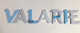 Wood Letters-Nursery Decor- Blue & Grey Elephant theme- Price Per Letter... - $12.50