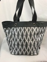 Thirty-One Gray Links Pattern Bucket Tote Bag  - $9.49