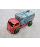 Antique Soviet Russian USSR Marbled Plastic Toy Primitive Truck About 19... - $23.08