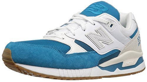 New Balance Men's 530 Summer Waves Collection Lifestyle Sneaker, Teal/White, 7.5