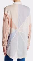 NWT Free People Rainbow Rays Long-Sleeve Shirt Pink Combo Size S - $74.99