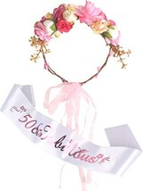 50th Birthday Flower Crown and Sash, Happy 50th Birthday Party Supplies, 50 & Fa