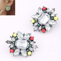 FAMSHIN New 2016 Fashion Alloy Candy Color Flower Bohemian Stone Earring... - $20.00