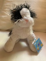RETIRED WEBKINZ LIL' KINZ ~BLACK & WHITE CAT~ BLK & WH CAT GANZ HS016 Co... - $18.70